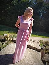 Šaty - Ľanové šaty na viazanie - 11824221_