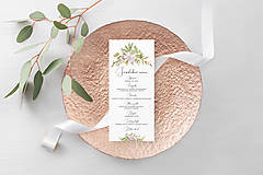 Papiernictvo - Svadobné menu Fleur - 11827880_