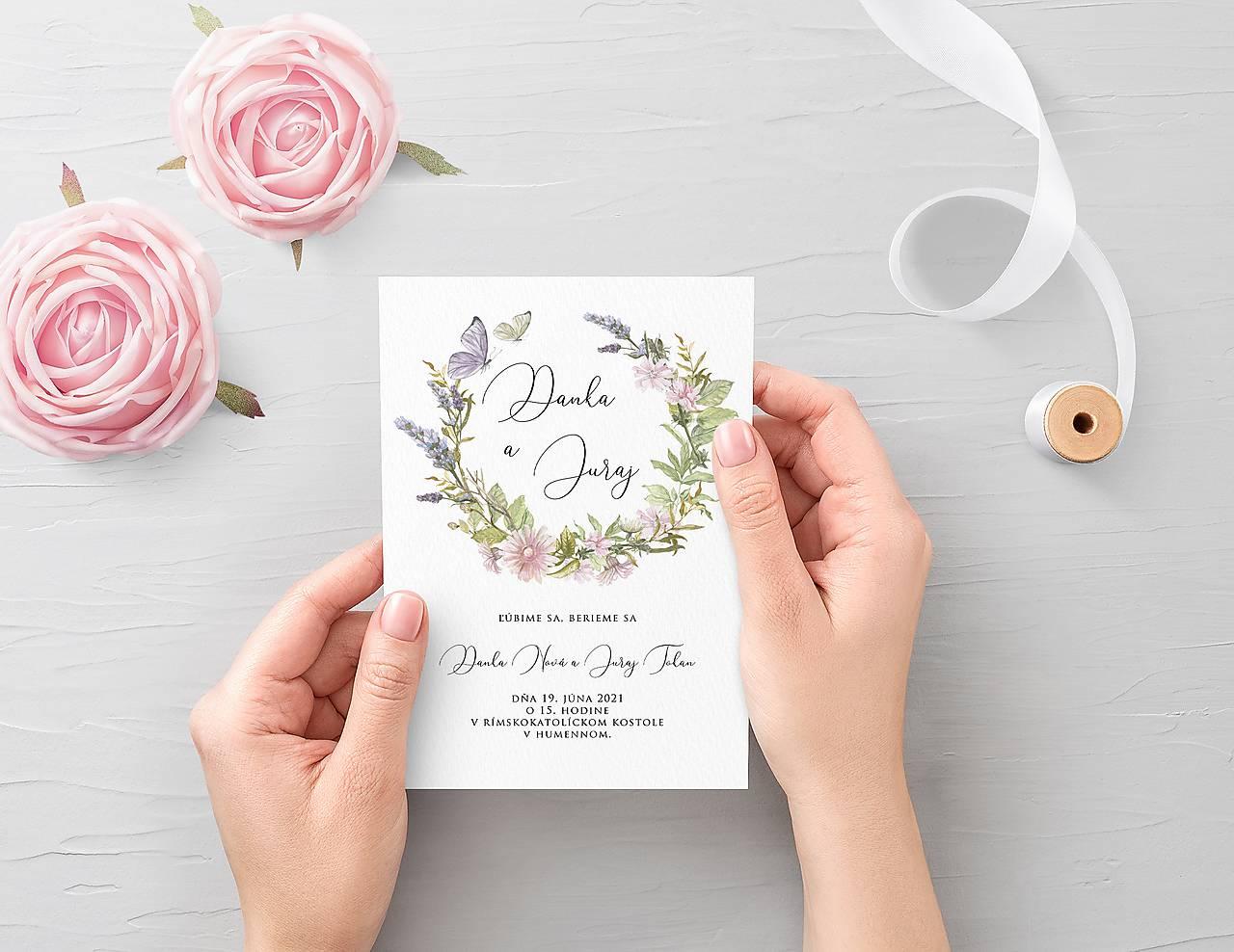 Papiernictvo - Svadobné oznámenie Fleur - 11827894_