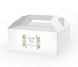 Papiernictvo - Etikety na zákusky, ďakovné kartičky, visačky Fleur - 11826586_