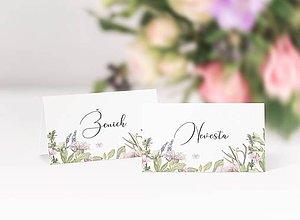 Papiernictvo - Svadobné menovky Fleur - 11826879_