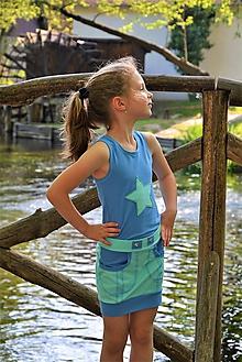 Detské oblečenie - Stella súprava mint/blue posledný kus!!! - 11827192_