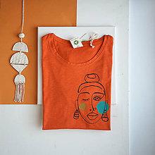 Tričká - Dámske tričko Ammyla - Dievča s náušnicami - 11827030_
