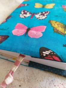 Papiernictvo - Obal na knihu,  tyrkysové motýliky - 11827927_