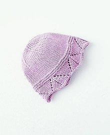 Detské čiapky - Čiapka pre bábätko - levanduľová - 11828470_