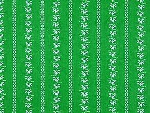 Textil - bavlna - folk (Zelená) - 11829334_