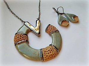 Sady šperkov - Originálna sada šperkov z keramiky. - 11829076_