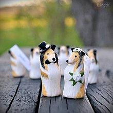 Darčeky pre svadobčanov - Kólia a bišónik - darčeky pre svadobných hostí/menovky - podľa fotografie psíka - 11829249_