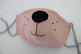 Detské doplnky - Psík - bavlnené rúško-dvojvrstvové s kapsou a drôtikom - 11826390_