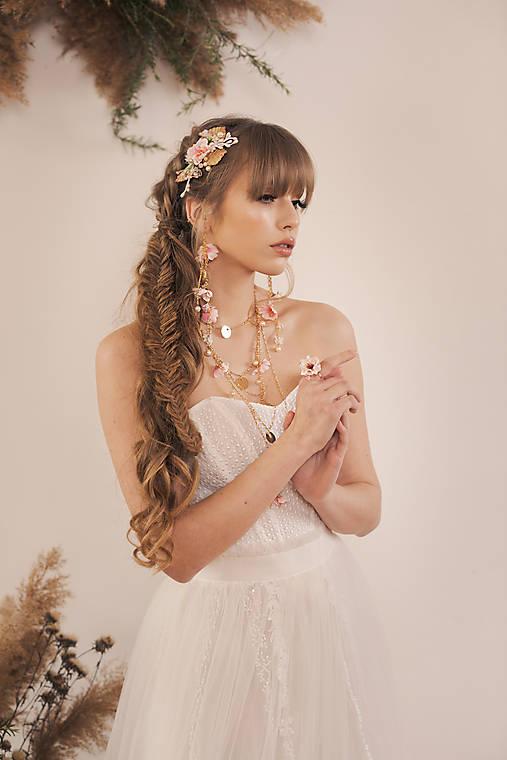 """Kvetinový náhrdelník """"rozkvitnutý sad"""""""