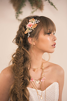 """Ozdoby do vlasov - Kvetinový hrebienok """"rozkvitnutý sad"""" - výpredaj z 20€ - 11826578_"""