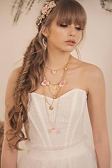 """Náhrdelníky - Kvetinový náhrdelník """"rozkvitnutý sad"""" - 11826636_"""