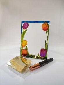Zrkadlá - Zrkadlo - tulipány - 11828116_