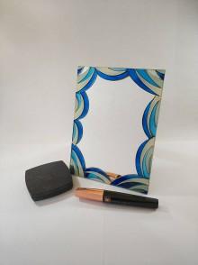 Zrkadlá - Zrkaldo - modré vlny - 11828308_