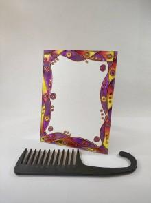 Zrkadlá - Zrkaldo - ružový abstrakt - 11828313_
