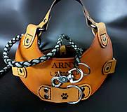 Pre zvieratká - Postroj kožený pre psíka - 11827021_