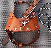 Pre zvieratká - Postroj kožený pre psíka - 11827039_
