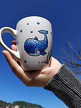 Nádoby - Výpredaj! Hrnček veľryba-pre najmenších - 11827726_