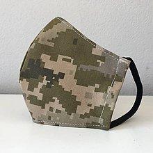 Rúška - DVOJVRSTVOVÉ rúško na tvár vojenské  - 11828094_