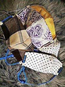 Rúška - Bavlnené rúško 3 vrstvové - 11828182_