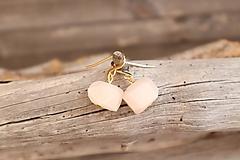 Náušnice - Náušnice z minerálu slnečný kameň ružový - 11825978_