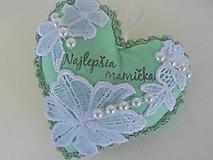 Dekorácie - Srdiečko -Pre mamičku - 11828675_