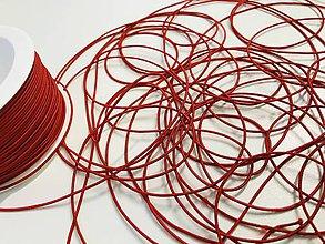 Galantéria - Klobúková guma 1,2 mm červená - 11833647_