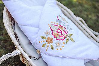 Textil - Vyšívaná ľanová zavinovačka - 11831468_
