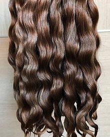 Materiál ručne robený - Vlasy pre bábiky - svetlejšie hnedé - 11830198_