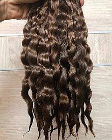 Materiál ručne robený - Vlasy pre bábiky - tmavšie hnedé - 11830204_