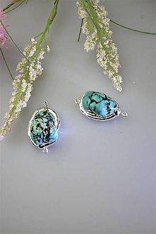 """Minerály - """"tyrkys drúzy"""" korálky - cena za 2ks - 11834854_"""