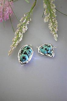 """Minerály - """"tyrkysové drúzy"""" korálky - cena za 2ks - 11834873_"""