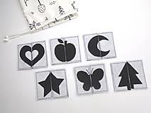 Hračky - Montessori pexeso: čierno-biele - 11833433_