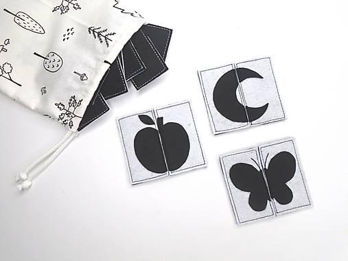 Montessori pexeso: čierno-biele