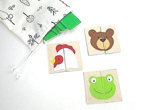 Hračky - Montessori pexeso: zvieratká - 11833349_