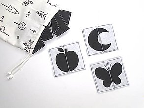 Hračky - Montessori pexeso: čierno-biele - 11833416_