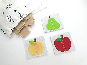 Hračky - Montessori pexeso: ovocie - 11833507_