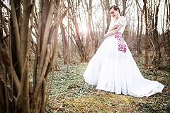 Sukne - svadobná sukňa Slavianka - 11830280_