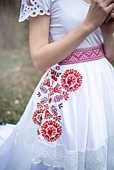 Sukne - svadobná sukňa Slavianka - 11830281_