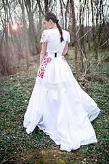 Sukne - svadobná sukňa Slavianka - 11830282_