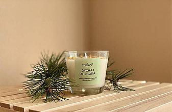 Svietidlá a sviečky - Bylinková sviečka Dýchaj zhlboka - 11830919_
