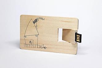 Drobnosti - DREVENÉ USB_KAŽDÉ DIEŤA JE UMELEC - 11834411_