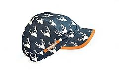 Detské čiapky - Letná šiltovka jelene - 11834086_