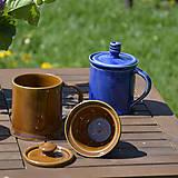 Nádoby - Čajová šálka so sitkom - medovo hnedá - 11831787_