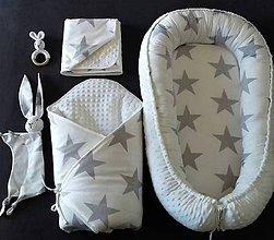 """Textil - Velký set do pôrodnice """"sivá hviezda"""" - 11837046_"""