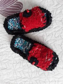 Obuv - pletené papučky - 11836945_