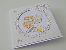 Papiernictvo - Pohľadnica k narodeniu bábätka III - 11839577_