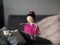 Dekorácie - malá ružová baletka - 11838044_