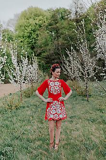 Šaty - mini šaty červené Poľana - 11838905_