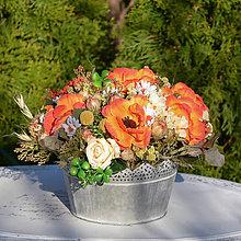 Dekorácie - Dekorácia na stôl s anemonkami - 11837961_